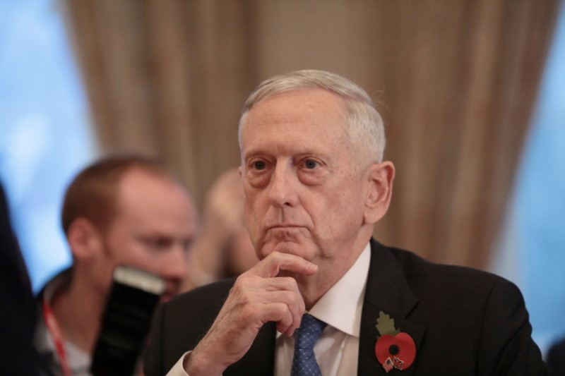 US Secretary for Defense, Jim Mattis in a November 10, 2017 file photo. Photo: Reuters/Simon Dawson