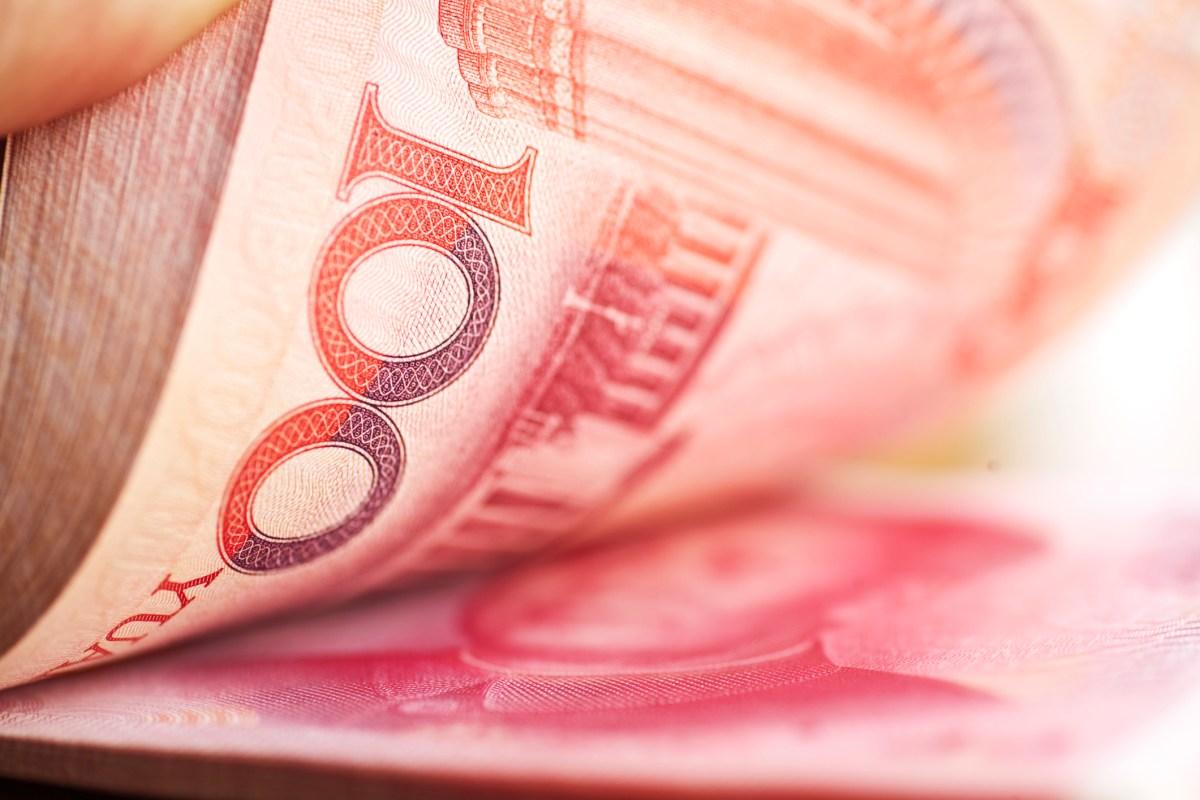 Chinese money. Photo: iStock