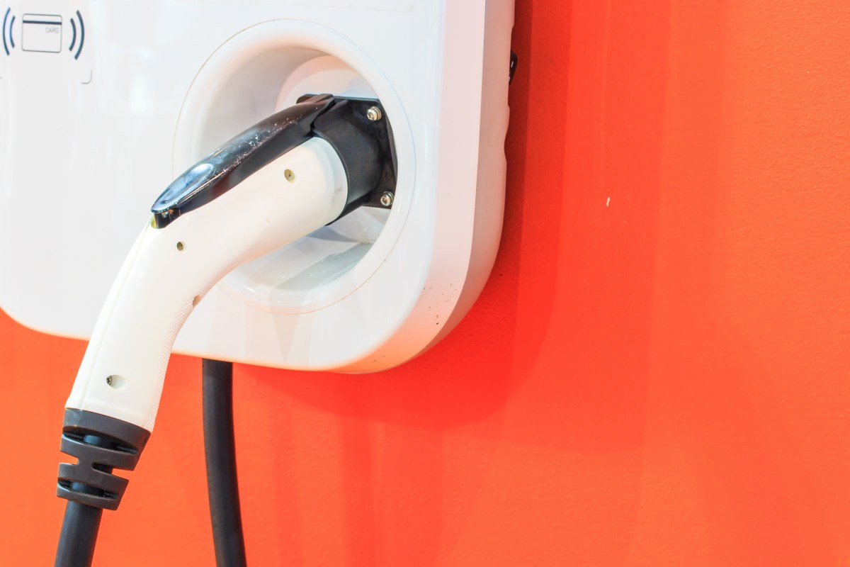 The power supply for charging of an electric car. Photo: iStock