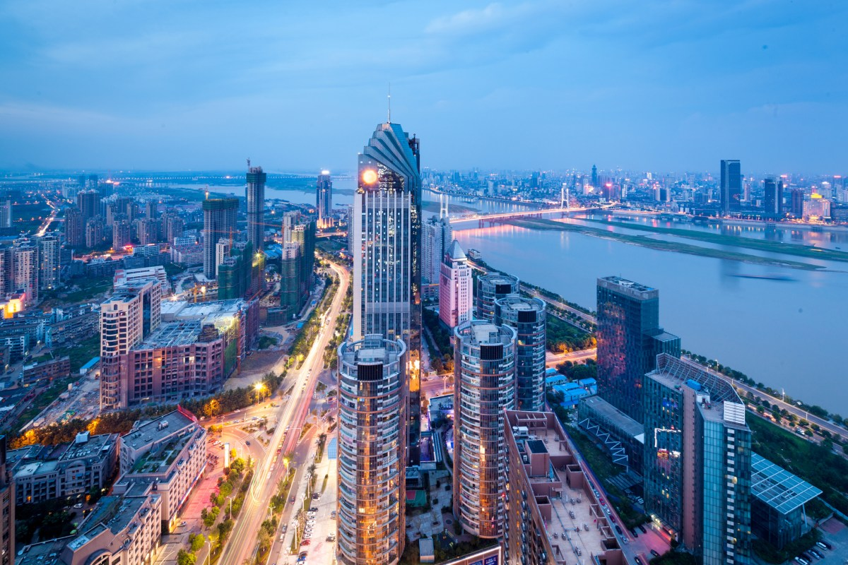China's Shenzhen city in the night. Photo: iStock
