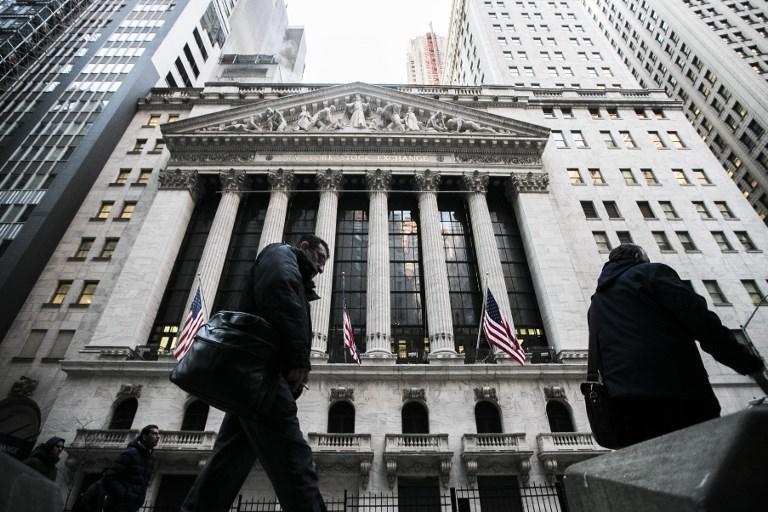 The New York Stock Exchange.  Photo: AFP