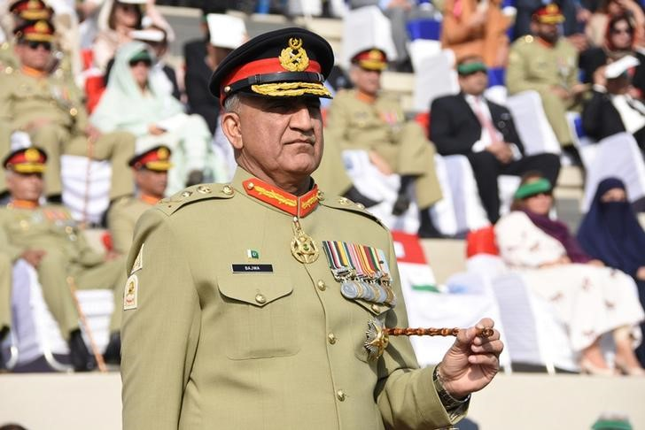 Pakistan's Army Chief, General Qamar Javed Bajwa. Photo: Pakistan Inter Services Public Relations/Handout via Reuters