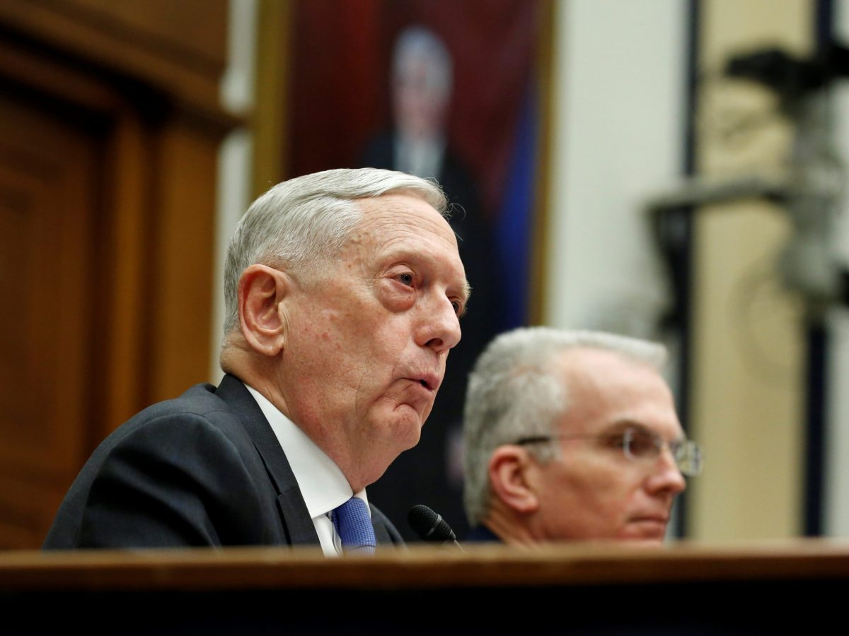 "US Defense Secretary Jim Mattis testifies to the House Armed Services Committee on ""The National Defense Strategy and the Nuclear Posture Review"" on Capitol Hill in Washington, U.S., February 6, 2018. Photo: Reuters/Joshua Roberts"