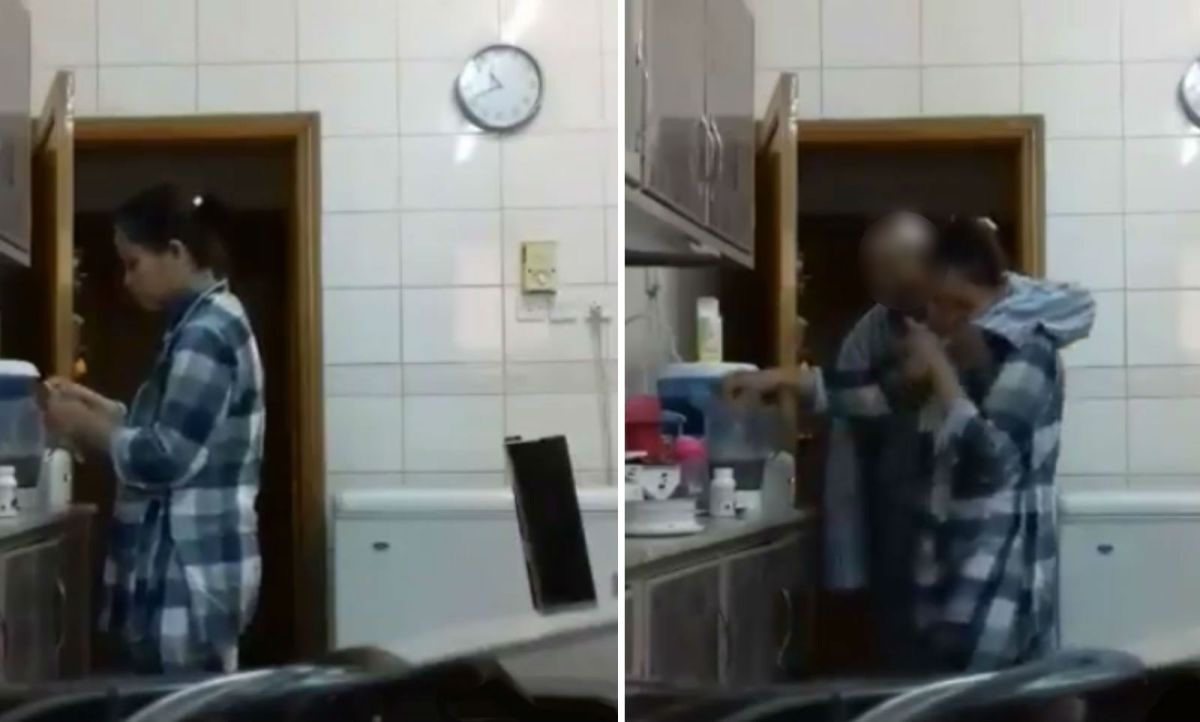 A Filipino domestic worker filmed her employer's assault and posted it online. Photo: Facebook