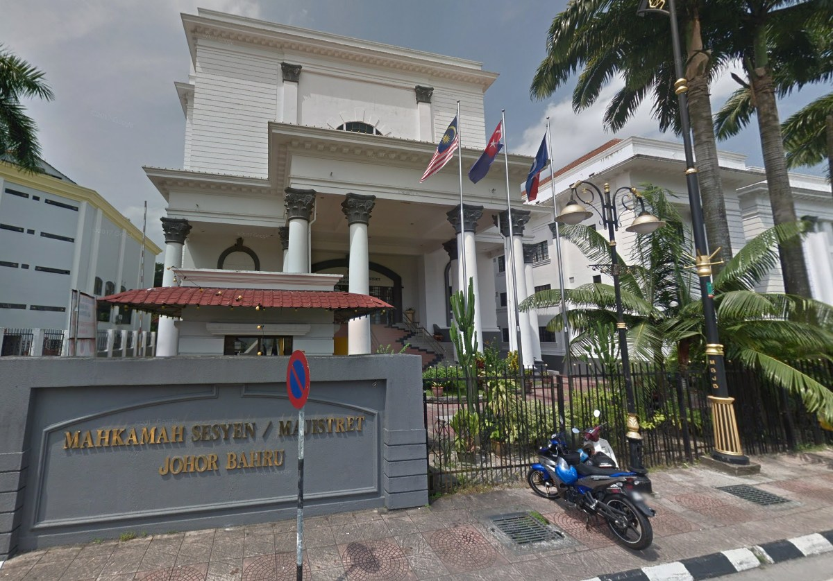 Johor Bahru Magistrates' Court in Johor, Malaysia. Photo: Google Maps