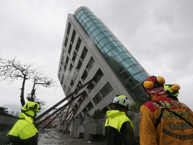 The earthquake in Hualien, Taiwan  has shattered buildings. Photo: AFP / Yomiuri Shimbun