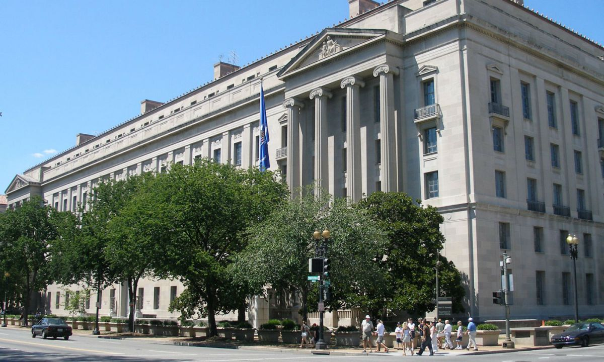 US Department of Justice. Photo: Wikimedia Commons, Coolcaesar