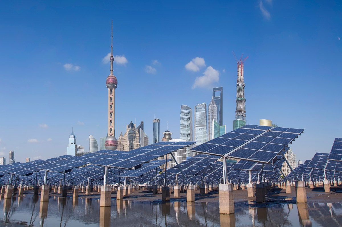 Solar panels in Shanghai. Photo: iStock
