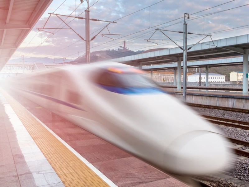 Chinese high-speed rail. Photo: iStock