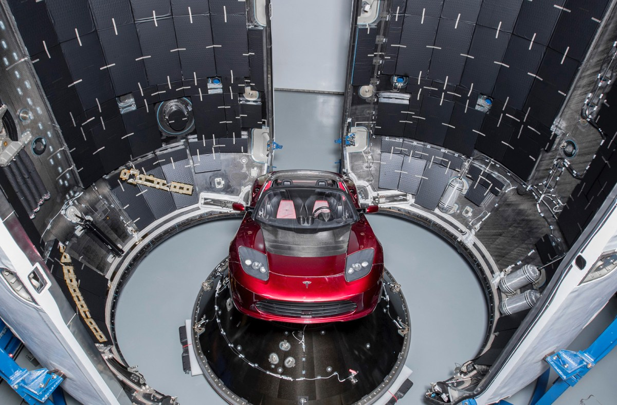 Falcon Heavy's first payload will be a Tesla Roadster, set to become the world's fastest car following its launch into a heliocentric orbit. Photo: spacex/flickr, CC BY-NC-ND