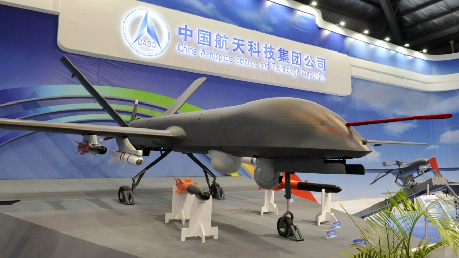 A civilian version of the Caihong drones made by China Aerospace Science and Technology Corp. Photo: CASC