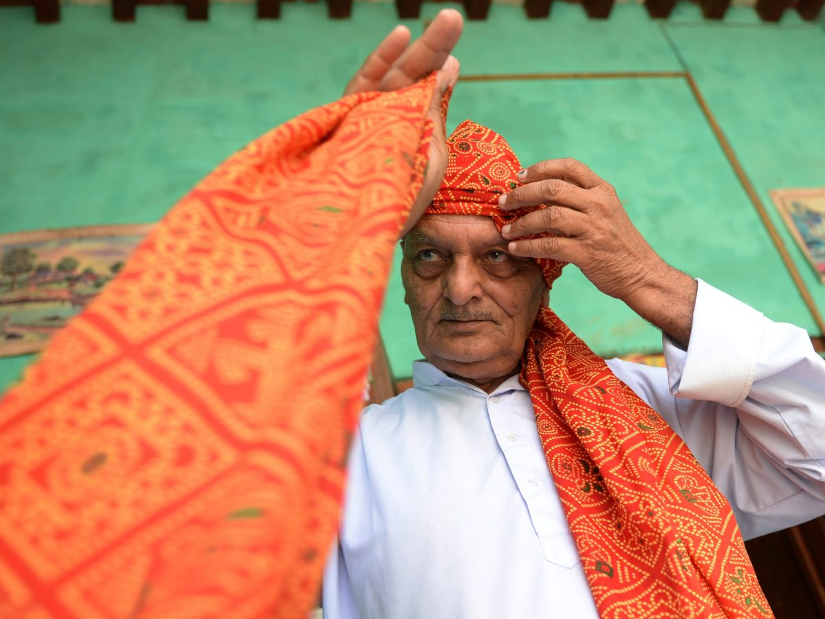 A village community leader in Hissar district in the northern state of Haryana. Photo: AFP/ Sajjad Hussain