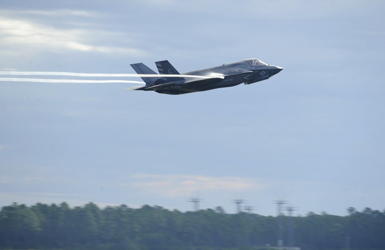 F-35 Lightning II takes off at Tyndall Air Force Base in Florida. Photo: US Air Force via AFP
