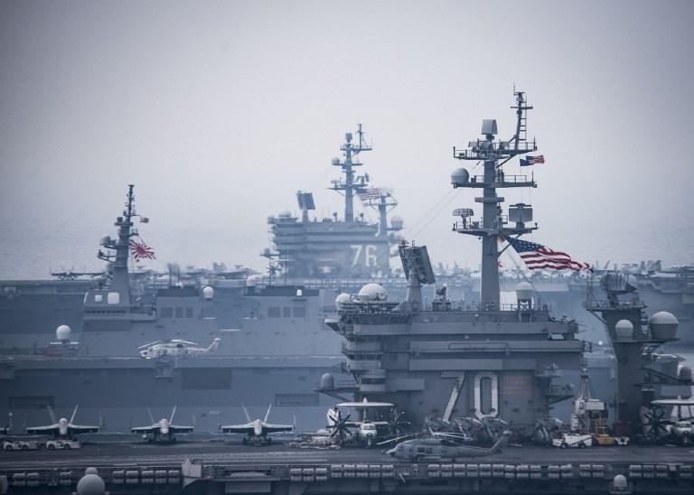 Carl Vinson Carrier Strike Group. Photo: US Navy via AFP