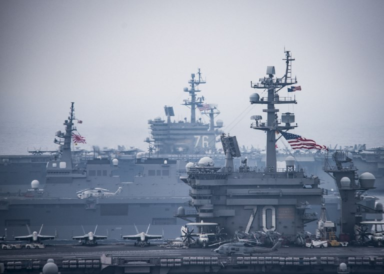 Carl Vinson Carrier Strike Group. Photo: US Navy via AFP