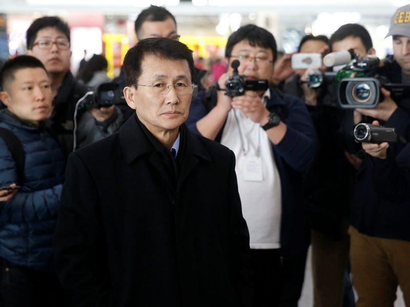 North Korean diplomat Choe Kang-Il at Beijing Capital airport en route to Helsinki, Finland. Photo: Reuters/Thomas Peter