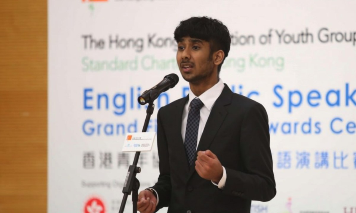 Harpareet Singh, a Grade 12 student at Raimondi College Photo: The Hong Kong Federation of Youth Groups