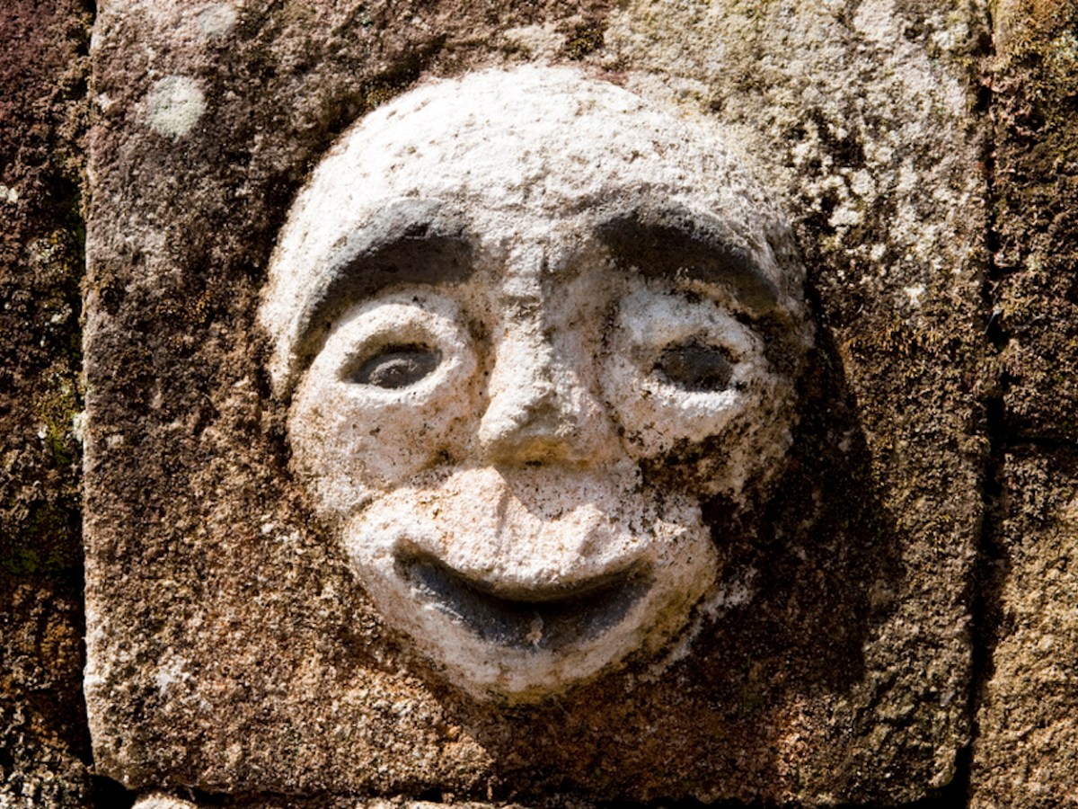 A stone carving of an other-worldly spirit among the Batak tribe in Lake Toba, Sumatra, Indonesia. Photo: iStock/Getty Images