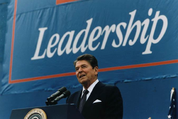US President Ronald Reagan. 2018-03-23