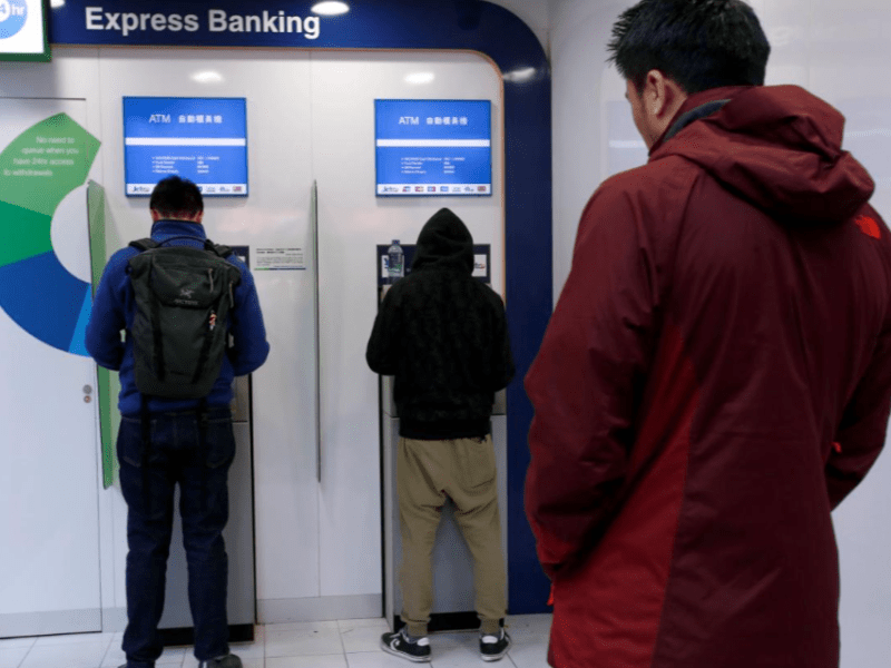 Police say people should stay alert while using ATMs. Two Indonesians have been arrested for six snatch and grab thefts in the city. Photo: Reuters