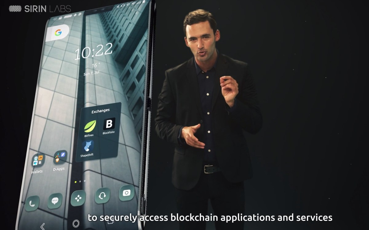 Still from promotional video for Sirin Labs Finney blockchain-based smartphone. Source: Sirin Labs website screen capture
