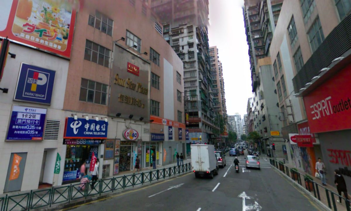 Border Gate area, Macau. Photo: Google Maps