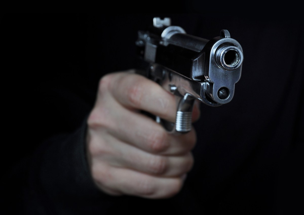 Shooting a gun in night. Photo: iStock