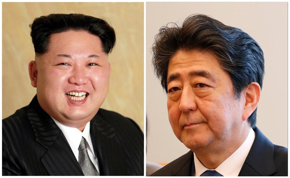 Kim Jong-un and Shinzo Abe: Meeting might help Abe more than Kim. Photos: Reuters (Kim via KCNA)