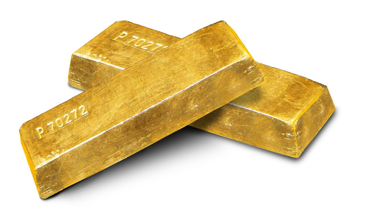 Gold ingots. Photo: Szaaman/Wikipedia Commons