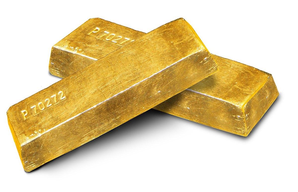 Gold ingots. Photo: Szaaman/Wikipedia Commons