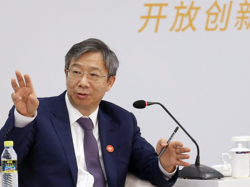 People's Bank of China (PBOC) governor Yi Gang.  Photo: China Daily via Reuters