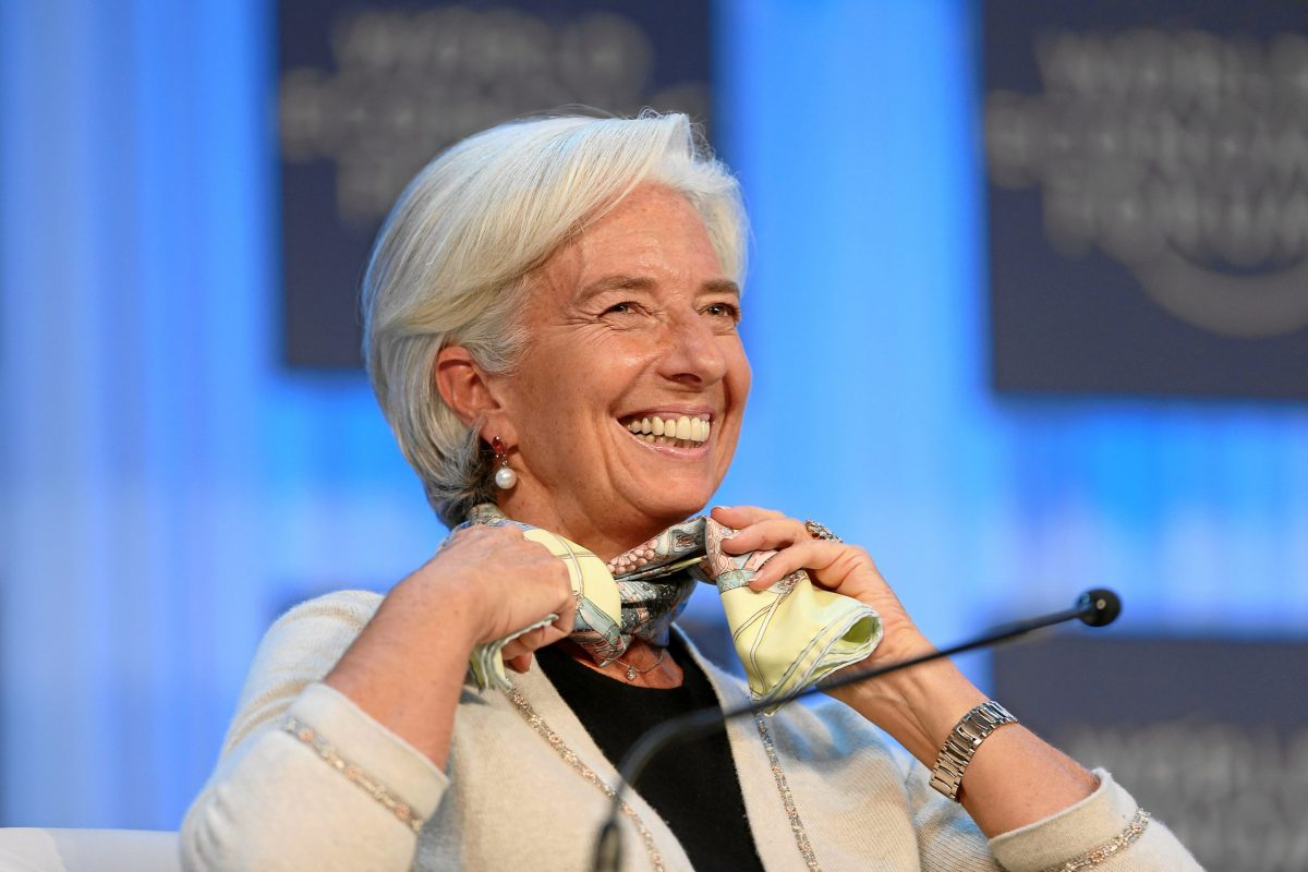 IMF head Christine Lagarde at the World Economic Forum in in Davos in 2013. Photo: World Economic Forum