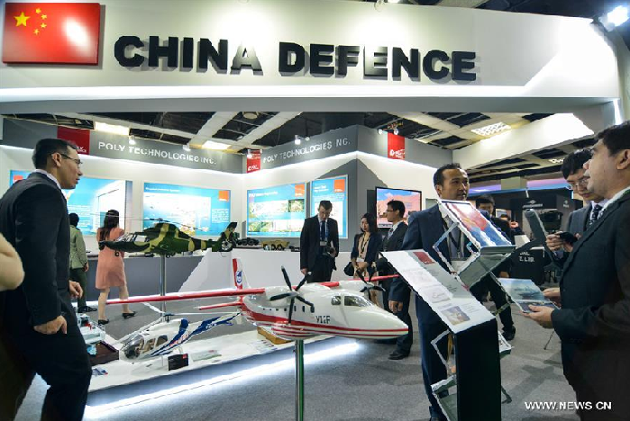 Chinese arms makers have been frequenting arms and defense  exhibitions, from this year's Singapore Air Show to the just concluded Defense Service Asia in Kuala Lumpur. Photo: Xinhua
