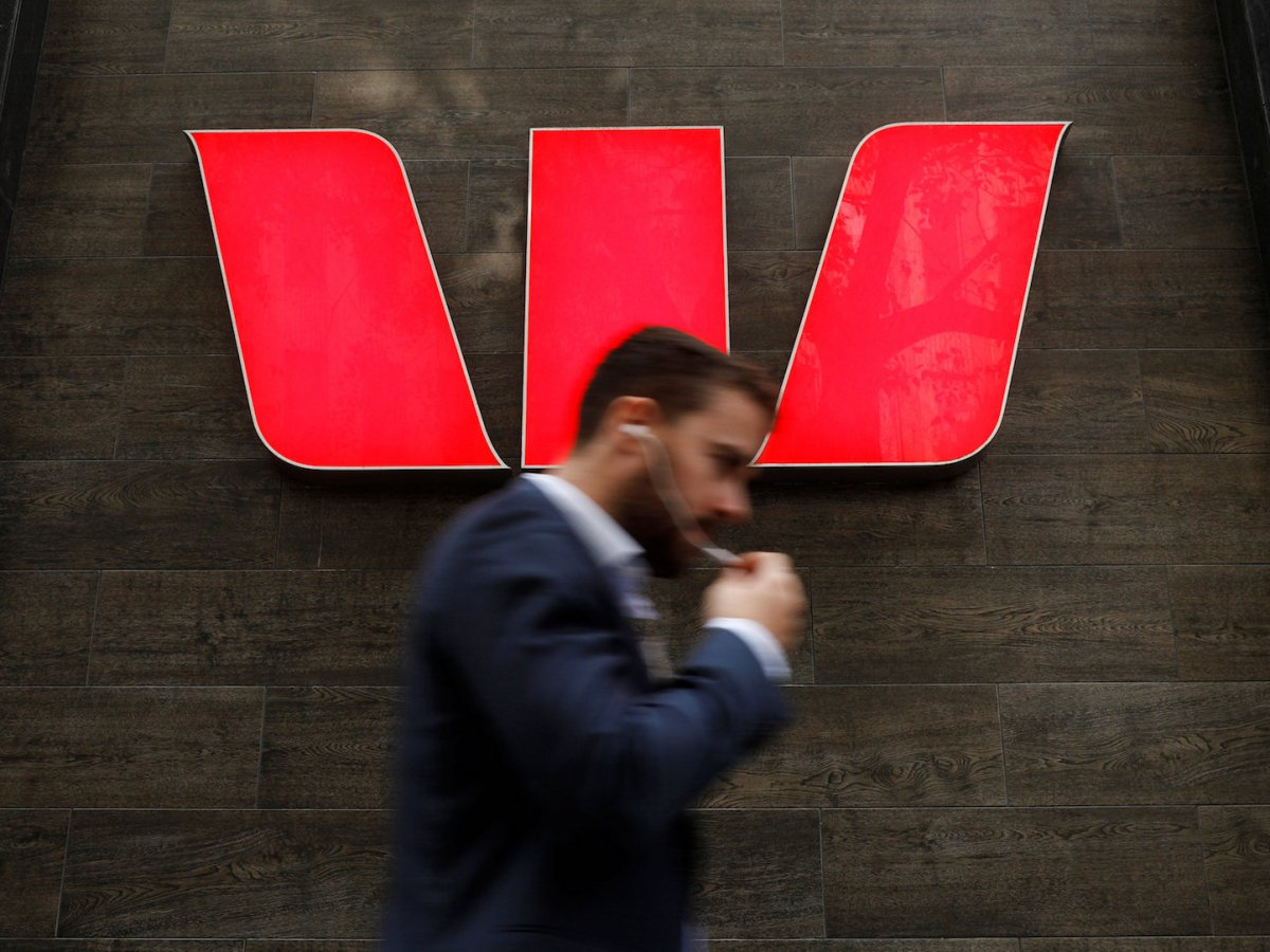 A man walks past a Westpac bank branch in Sydney, Australia April 20, 2018. REUTERS/Edgar Su