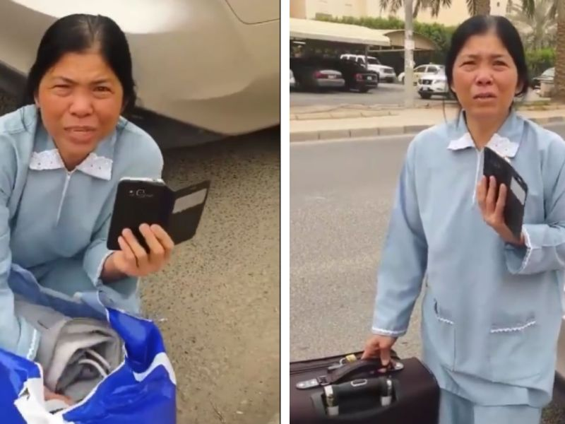 Filipino domestic worker Corazon is seeking the Philippine government's help after she was forced to leave her employer's home in Kuwait without being paid compensation for her 14-year service. Photo: Facebook