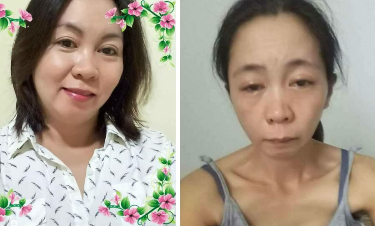 Gemma Madera Damuran is seeking the Philippine government's help to rescue her and bring her home. Photos: Facebook