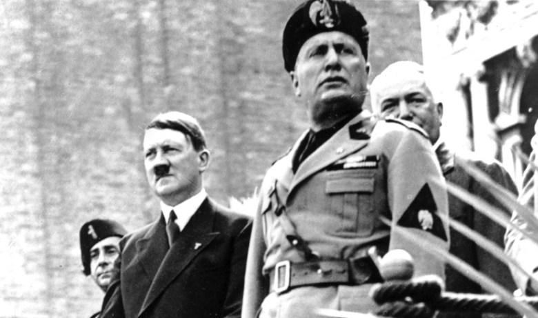 German fascist Hitler visits fellow fascist Mussolini in Venice, Italy in 1934. Photo: AFP Forum