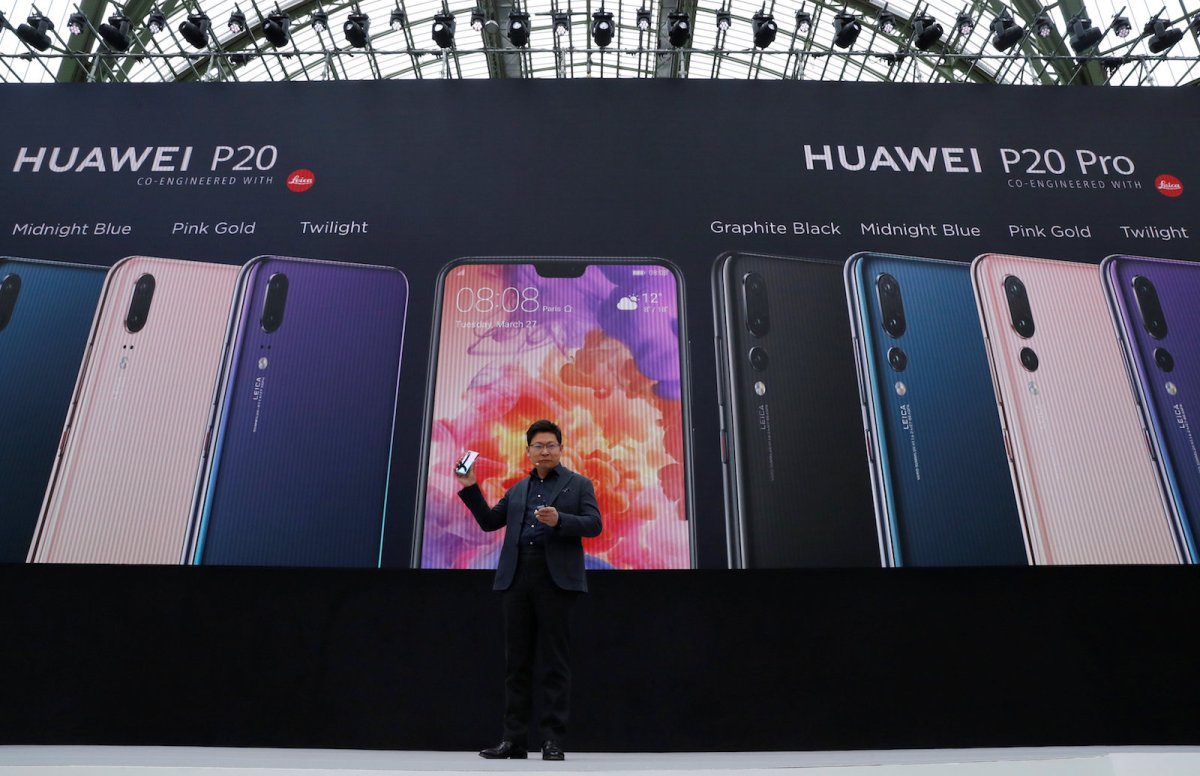 Richard Yu, the CEO of Huawei Consumer Business Group, at the launch of the new P20 smartphone in Paris last month. Photo: Reuters / Gonzalo Fuentes
