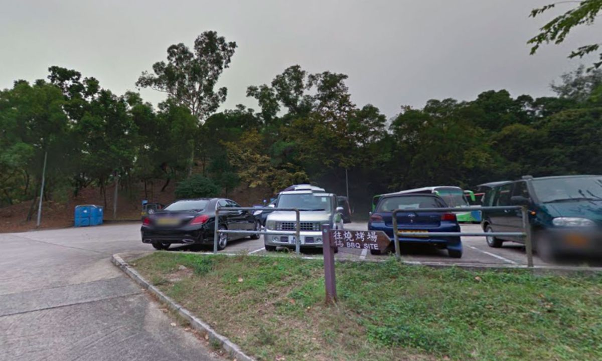The car park where the man was found Tai Tong in Yuen Long in the New Territories. Photo: Google Maps