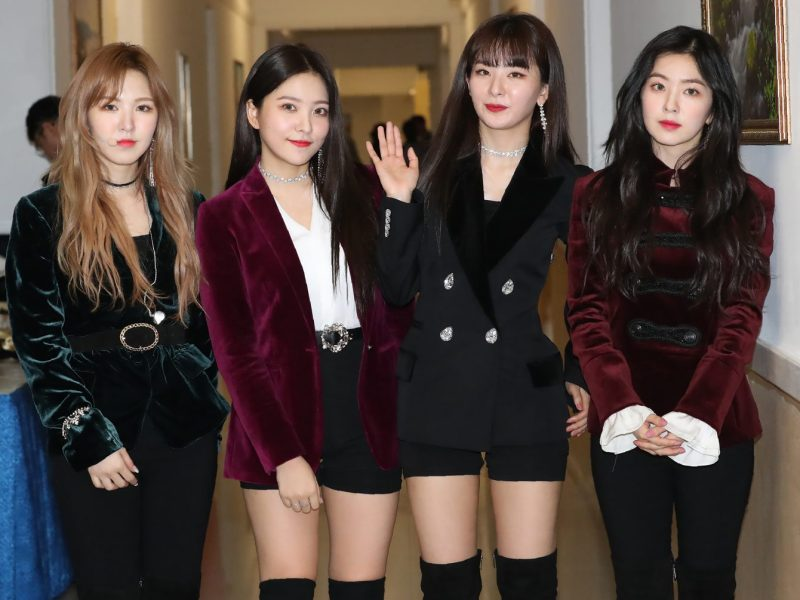 Members of K-pop girl-band Red Velvet after a rehearsal at the 1,500-seat East Pyongyang Grand Theatre in Pyongyang on April 1. Photo: AFP/Korea Pool