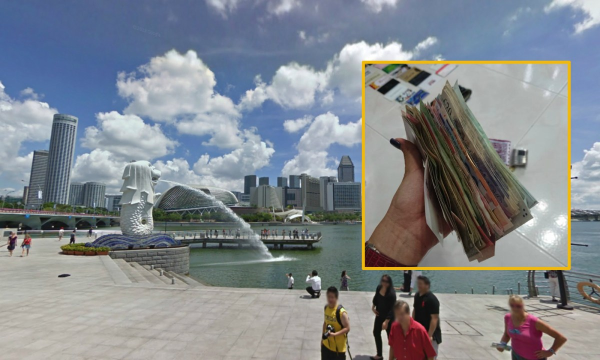 A Singaporean employer accused her maid of stealing stacks of cash she found while doing her household chores. Photos: Google Maps, Facebook/Dol Chew