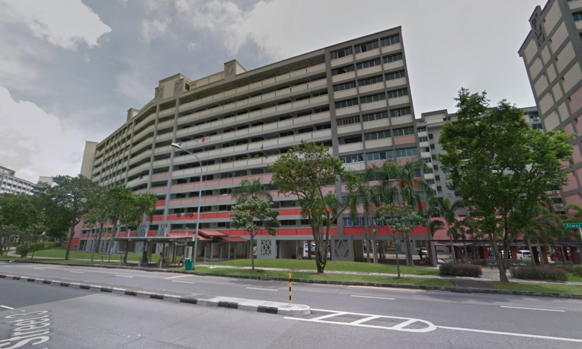 Block 233 on Simei Street 4 in Singapore where the incident happened. Photo: Google Maps