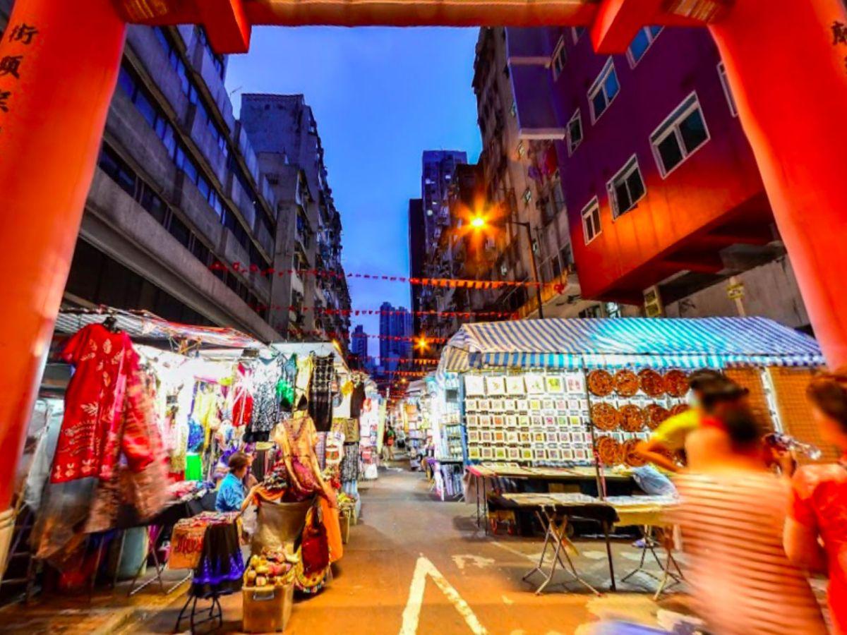 Temple Street in Yau Ma Tei, Kowloon. Photo: Google Maps