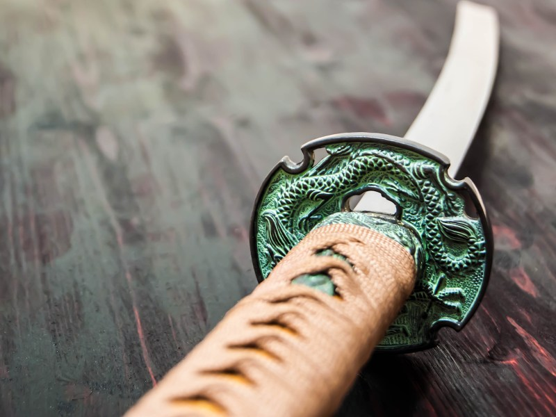 A Katana samurai sword, favored by some yakuza in Japan. Photo: iStock
