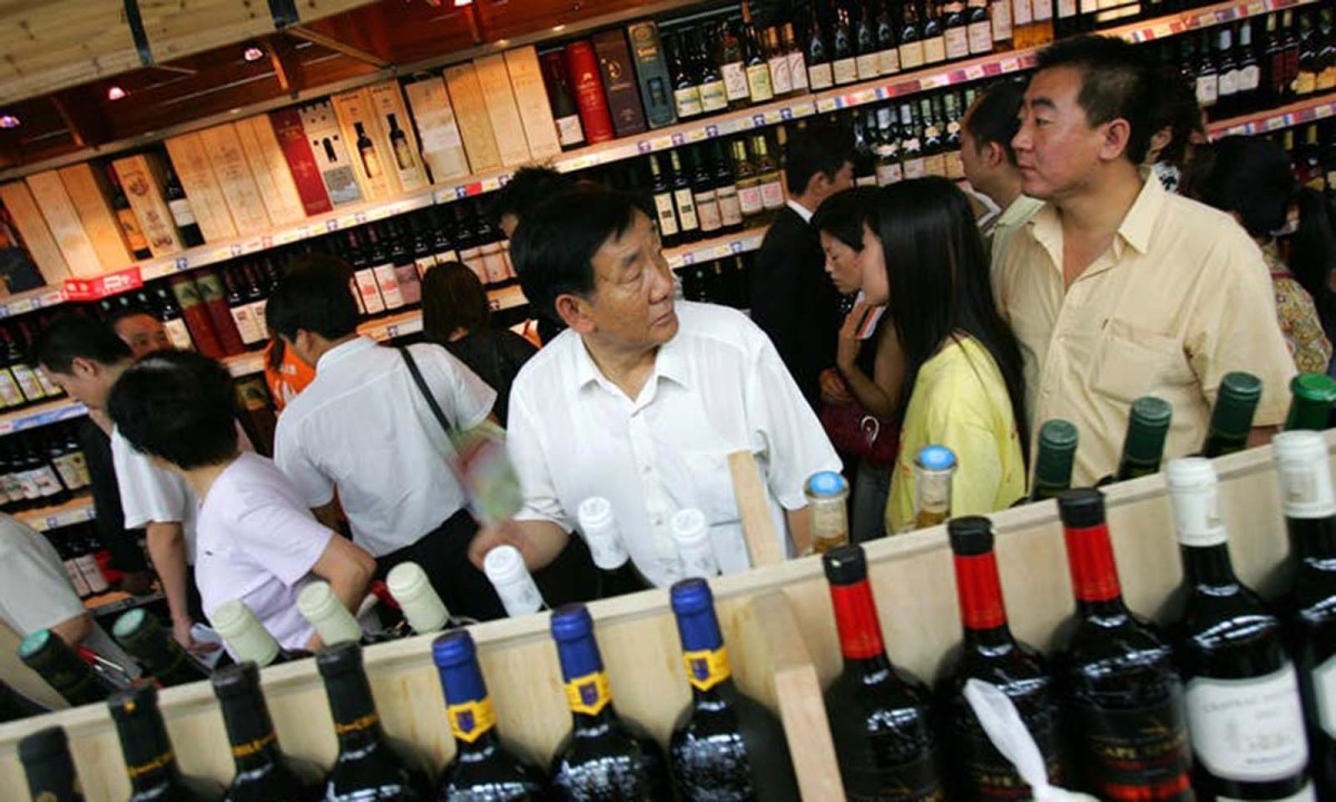 More Chinese wines are finding their way into the liquor aisle. Photo: AP/Elizabeth Dalziel