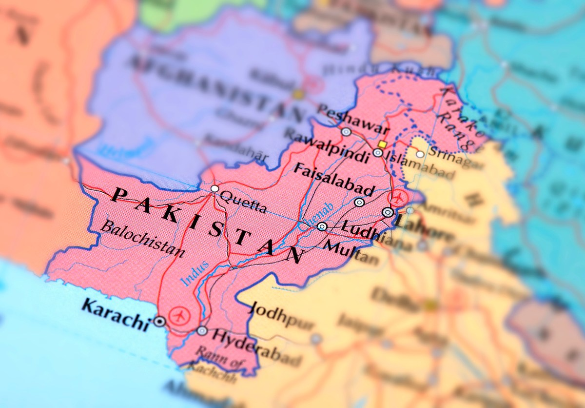 Map of Pakistan. Photo: iStock