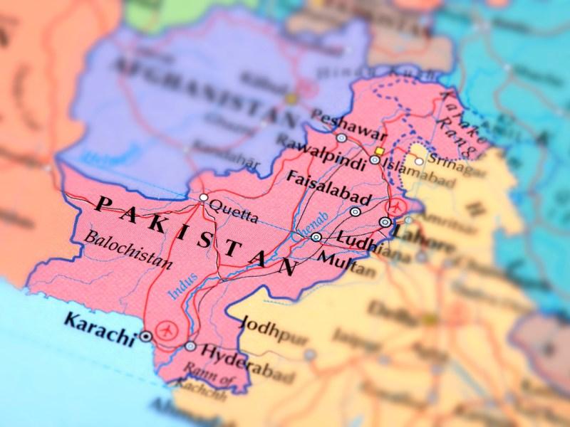 Map of Pakistan. Photo: iStock