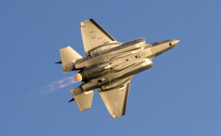 An Israeli Air Force F-35 Lightning II fighter jet. Photo: AFP/Jack Guez