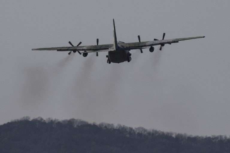 A C-130 transport aircraft. The Pentagon has alleged that Chinese lasers injured two airmen piloting a C-130 in recent weeks. Photo: NurPhoto via AFP/Seung-il Ryu