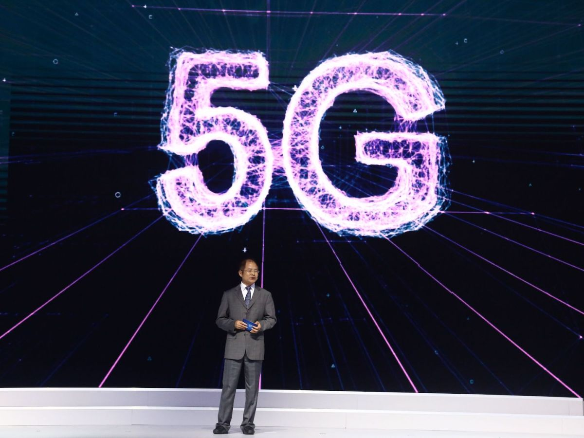 Xu Zhijun, Huawei's rotating CEO, introduces the company's 5G Pre-commercial System at the World Internet Conference in Wuzhen last year. Photo: AFP
